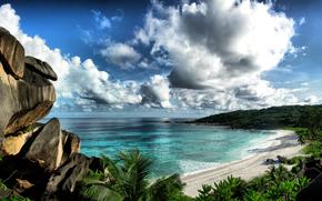 mare, cielo, costa, Rocks, paesaggio
