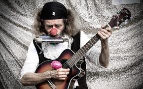 man, guitar, music