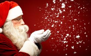 cap, Ano Novo, enchimento, Papai Noel, culos, barba