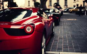 Ferrari, Veyron, Bugatti, black, Italy, Ferrari, red