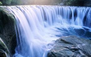 waterfalls, stone, nature
