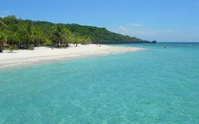 тропики, пляж, пальмы