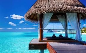 Maldivas, trpicos, cenador