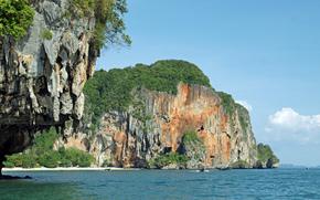 море, скалы, лодки