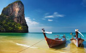 Thailandia, tropici, spiaggia, Barche
