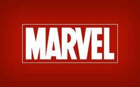 marvel, logo, логотип, красный