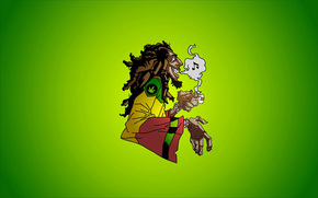 bob marley, reggae, music, caricature, smoke, marijuana, dreadlocks, jamaica, rocksteady