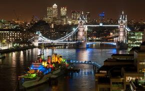 city, river, ship