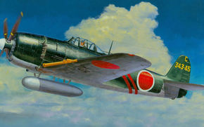 "Marine fighter-interceptor ""sitting"", Purple Lightning, single-seat fighter-metal construction, George, picture"