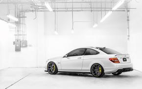Mercedes, мерседес бенц, белый, лампы