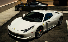 white, black, California, Ferrari, Ferrari, Italy