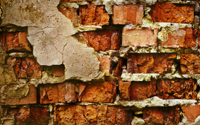wall, brick, Putty
