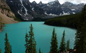 Canada, Montagnes, paysage, alberta, Banff, Nature