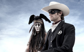 The Lone Ranger, Wild West, western, Armie Hammer, Johnny Depp