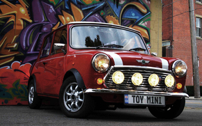 lights, machine, Mini Cooper, Car, Mini, Wheel, graffiti