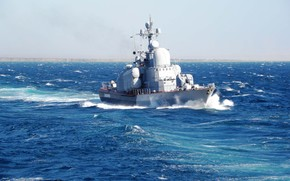 boat, sea, beautiful, fleet, blue, missile, ship, turn.