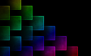 cube, block, Gimp, brightness, color, background, abstraction, rainbow