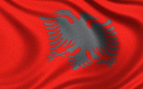 Bandiera dell'Albania, Bandiera albanese, bandiera della Repubblica di Albania - bandiera della Repubblica di Albania