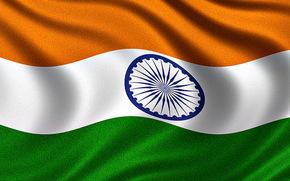 Flag of India, Bandiera indiana, Bandiera della Repubblica dell'India - Bandiera dell'India