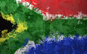 struttura, bandiera, Sudafrica