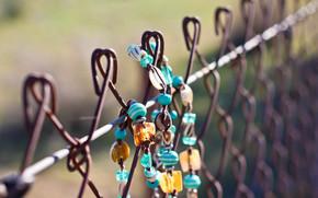 fence, bijouterie, macro, bracelet, Beads, background, nature, Mood, decoration, accessory, wallpaper, net