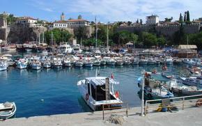 boats, Antalya, wharf