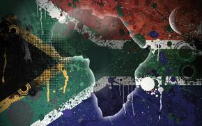 bandiera, struttura, isola, Sudafrica