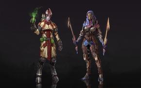 armor, fanart, Blades, magic, Scrolls