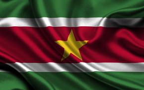 Suriname, flag