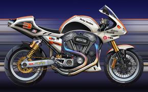 motocicli, Arte, Harley, sport bici
