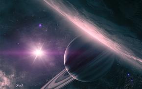 土星, 环, 空间, 艺术, 地球