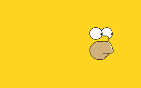 minimalism, Homer, view, Simpsons, face