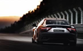 Maserati, tramonto, traccia, traccia, Maserati