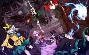 Demons, Girls, wings, weapon, joy, mood, magic