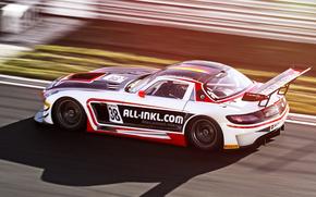Rennen, Mercedes, Wettbewerb, in Bewegung