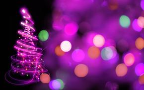 spirale, abete, Capodanno, astrazione, splendore