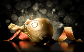 New Year, tape, black, gold, Christmas, background, New Year, Toys, bow, scenery, Christmas, New, Holidays, ball