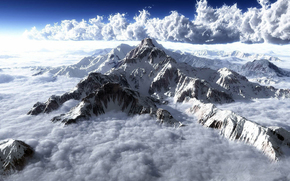 Montagne, Rocks, cielo, nuvole,