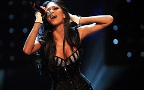 microphone, singer, celebrity, Nicole Scherzinger, sings