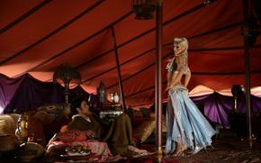 Christina Aguilera, man, celebrity, girl, dancing, blonde, singer