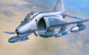 самолет, третьего, истребитель, США., поддержки, поколения, многоцелевой, наземной, ВВС, макдоннел дуглас, перехватчик