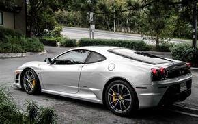 strada, Ferrari, argento, Ferrari