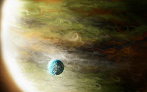 gas, planet, giant, space, Art