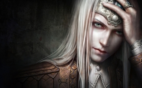 wall, tiara, face, Art, guy, ring, Jewelry, Fantasy