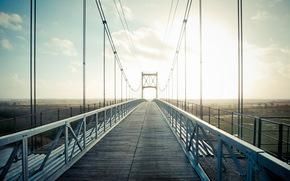 bridge, landscape, light