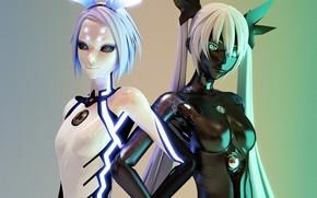Vocaloid, robot, Art, Girls, android