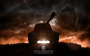 закат, СССР, ИС, танки, самолёты, танк