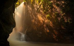rocas, agua, pasaje, luz, Naturaleza