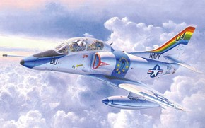 plane, American, attack plane, first, Art, deck, developed, easy, Training, half, in