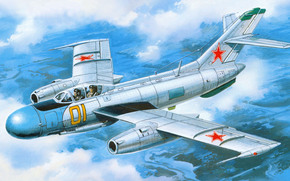 Yakovlev, beacon, Soviet two-seat fighter-interceptor, picture